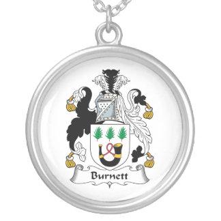 Escudo de la familia de Burnett Colgante Redondo
