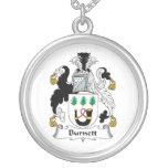 Escudo de la familia de Burnett Colgantes Personalizados
