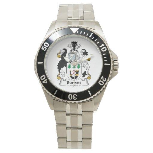 Escudo de la familia de Burnett Reloj