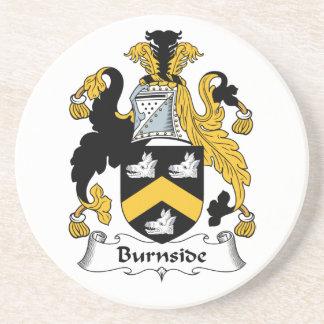 Escudo de la familia de Burnside Posavasos De Arenisca