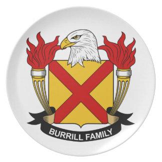 Escudo de la familia de Burrill Platos De Comidas