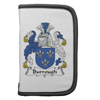 Escudo de la familia de Burrough Planificador