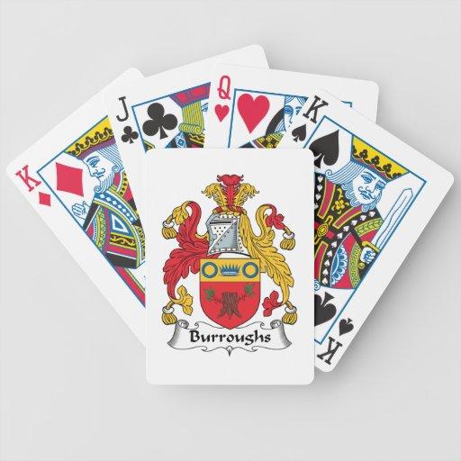 Escudo de la familia de Burroughs Baraja Cartas De Poker
