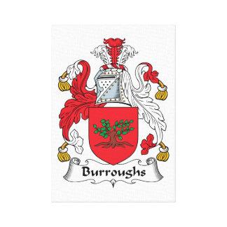 Escudo de la familia de Burroughs Impresiones En Lienzo Estiradas