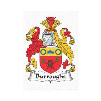Escudo de la familia de Burroughs Impresión En Lienzo Estirada