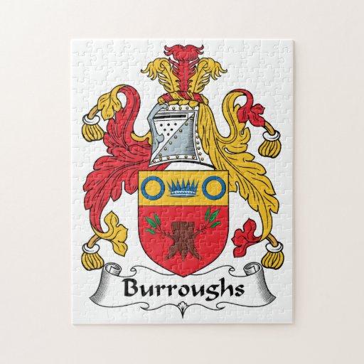 Escudo de la familia de Burroughs Puzzle Con Fotos