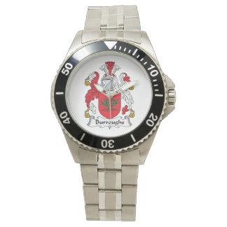 Escudo de la familia de Burroughs Relojes De Pulsera