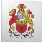 Escudo de la familia de Burroughs Servilletas Imprimidas