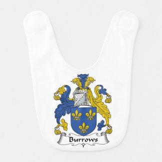 Escudo de la familia de Burrows Baberos