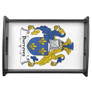 Escudo de la familia de Burrows Bandeja