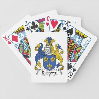 Escudo de la familia de Burrows Barajas De Cartas