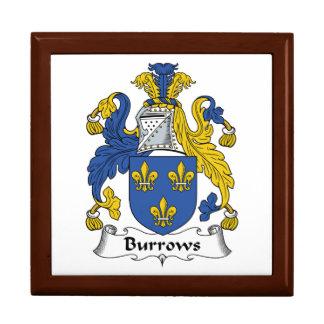Escudo de la familia de Burrows Caja De Recuerdo