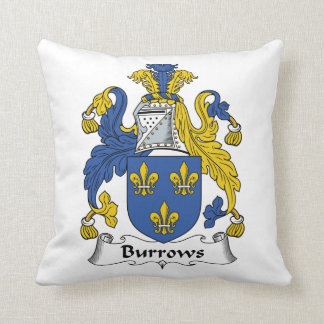 Escudo de la familia de Burrows Cojines