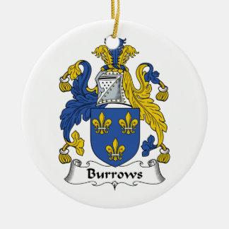 Escudo de la familia de Burrows Ornamentos Para Reyes Magos