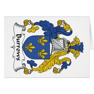 Escudo de la familia de Burrows Felicitaciones