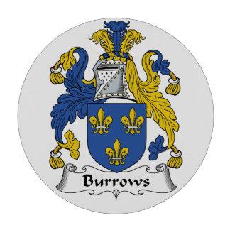 Escudo de la familia de Burrows Juego De Fichas De Póquer