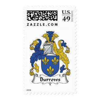 Escudo de la familia de Burrows Franqueo