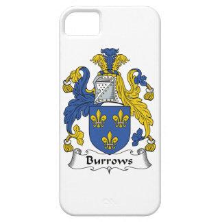 Escudo de la familia de Burrows iPhone 5 Protectores