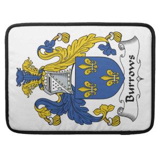 Escudo de la familia de Burrows Funda Para Macbook Pro