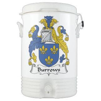 Escudo de la familia de Burrows Vaso Enfriador Igloo