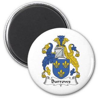 Escudo de la familia de Burrows Imán De Nevera