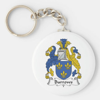 Escudo de la familia de Burrows Llaveros