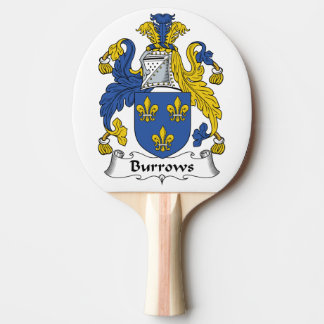 Escudo de la familia de Burrows Pala De Ping Pong
