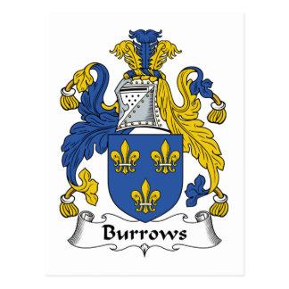 Escudo de la familia de Burrows Postales