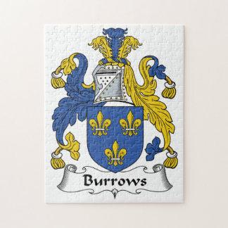 Escudo de la familia de Burrows Rompecabeza Con Fotos