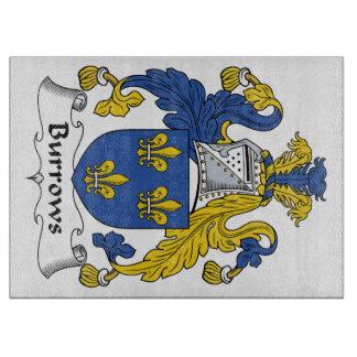 Escudo de la familia de Burrows Tablas Para Cortar