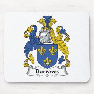 Escudo de la familia de Burrows Alfombrillas De Ratones