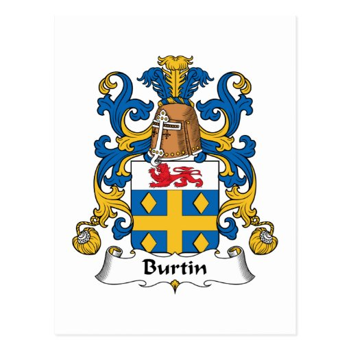 Escudo de la familia de Burtin Tarjetas Postales