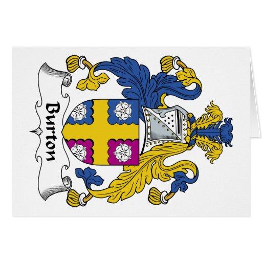 Escudo de la familia de Burton Tarjeton