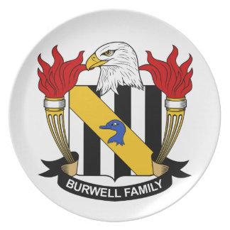 Escudo de la familia de Burwell Plato