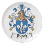 Escudo de la familia de Busch Platos