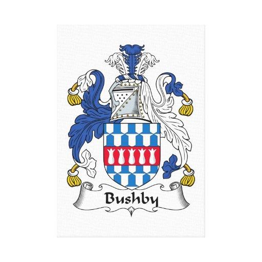 Escudo de la familia de Bushby Lona Estirada Galerías