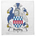 Escudo de la familia de Bushby Servilleta