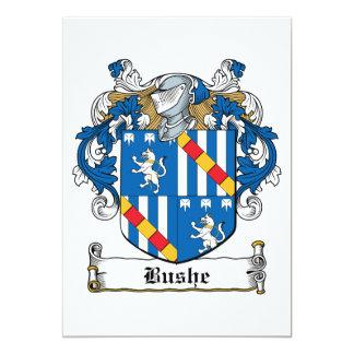 """Escudo de la familia de Bushe Invitación 5"""" X 7"""""""