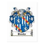 Escudo de la familia de Bushe Tarjeta Postal