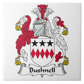 Escudo de la familia de Bushnell Azulejo Cuadrado Grande
