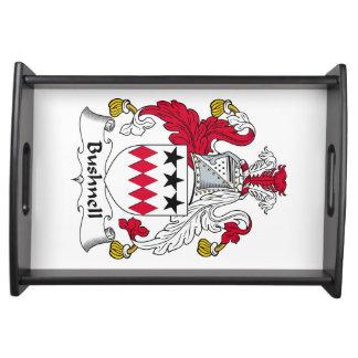 Escudo de la familia de Bushnell Bandeja