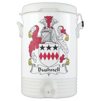 Escudo de la familia de Bushnell Enfriador De Bebida Igloo