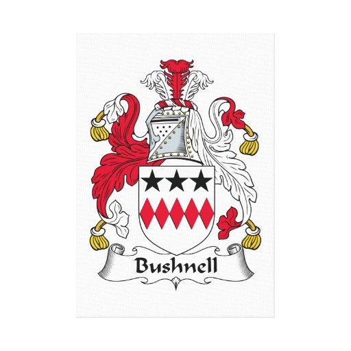 Escudo de la familia de Bushnell Lona Envuelta Para Galerías