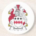 Escudo de la familia de Bushnell Posavasos Para Bebidas