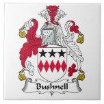Escudo de la familia de Bushnell Teja Ceramica