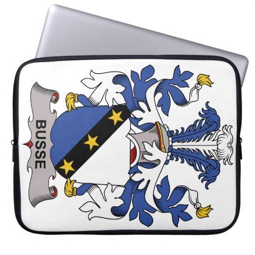 Escudo de la familia de Busse Fundas Portátiles