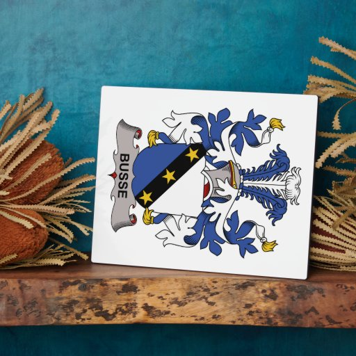 Escudo de la familia de Busse Placas Para Mostrar