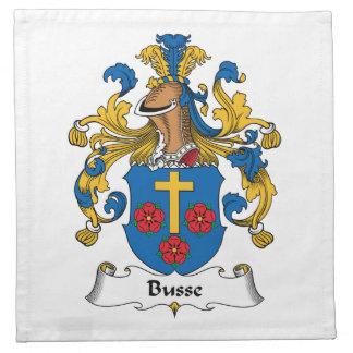 Escudo de la familia de Busse Servilleta