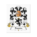 Escudo de la familia de Busson Lienzo Envuelto Para Galerias
