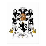 Escudo de la familia de Busson Postal